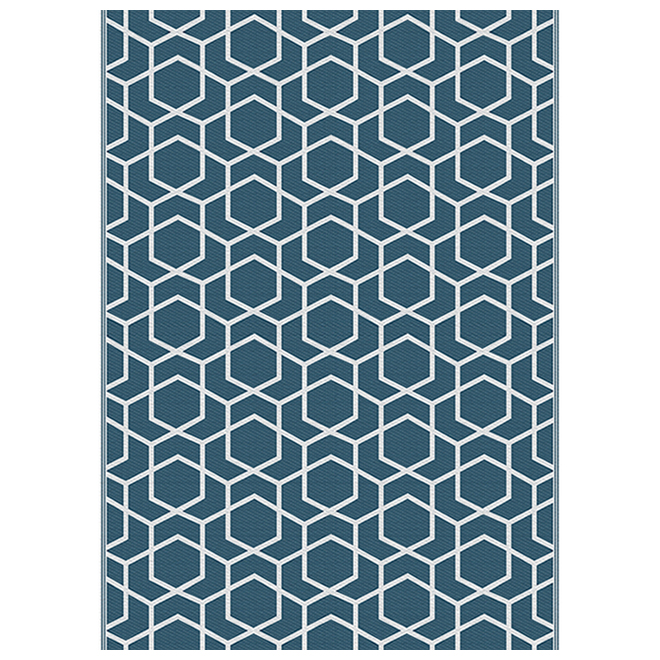 Multy Home Polyester Carpet - Modern Serenity - 5-ft x 7-ft - Blue