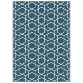 Multy Home Polyester Carpet - Modern Serenity - 5-ft x 7-ft - Blue