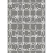 Multy Home Polyester Carpet - Balanced Simplicity - 5-ft x 7-ft - Grey
