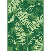 Multy Home Polyester Carpet - Leaves - 5-ft x 7-ft - Green