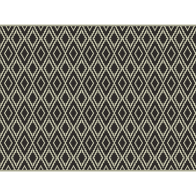 Multy Home Polyester Carpet - Global Escape - 9-ft x 12-ft - Black and White