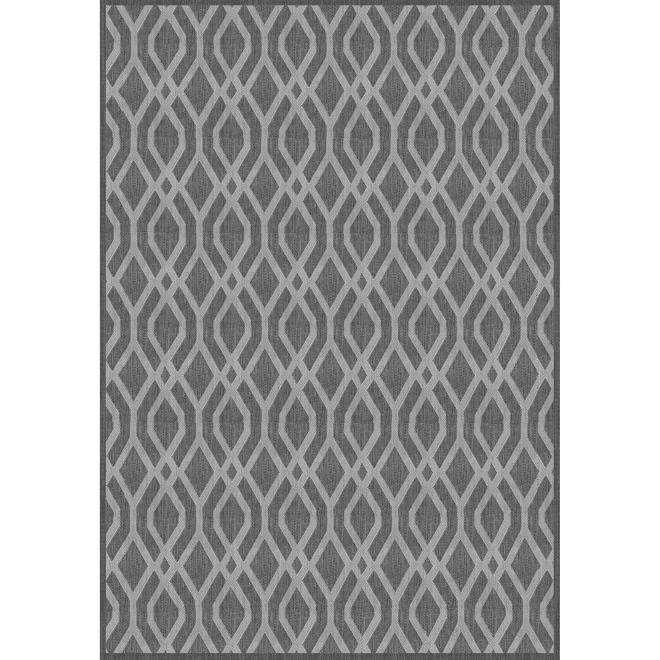 Tapis Multy Home Fresco Lithos, 7,7 pi x 10,1 pi, gris et blanc
