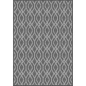 Multy Home Fresco Lithos Carpet - 7.7-ft x 10.1-ft - Grey and White