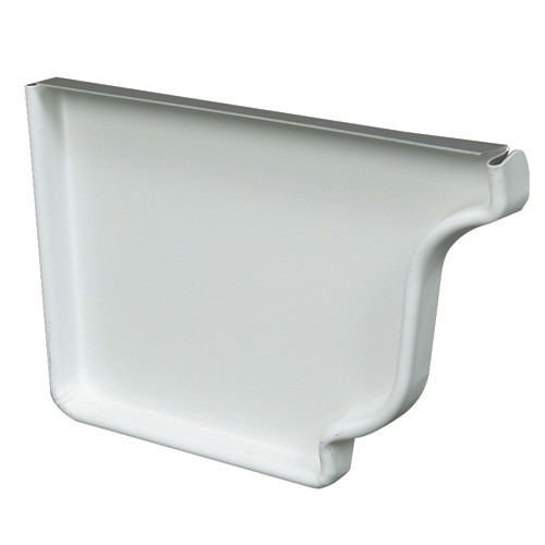 """Capuchon d'extrémité gauche en aluminium, 5"""", blanc"""
