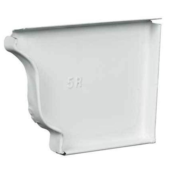 """Capuchon d'extrémité droit en aluminium, 5"""", blanc"""