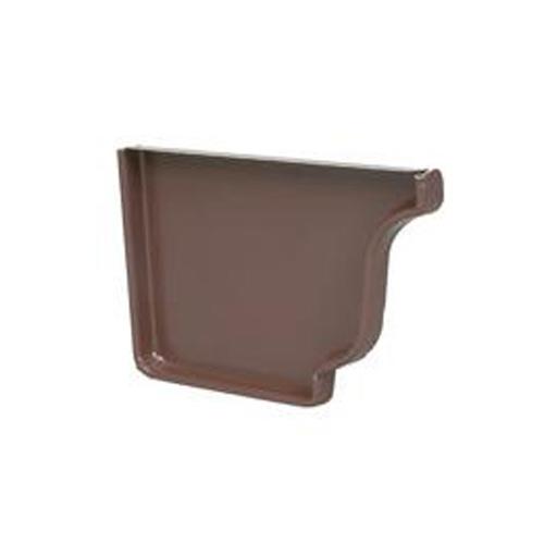 Embout de gouttière gauche en aluminium « Style K », marron