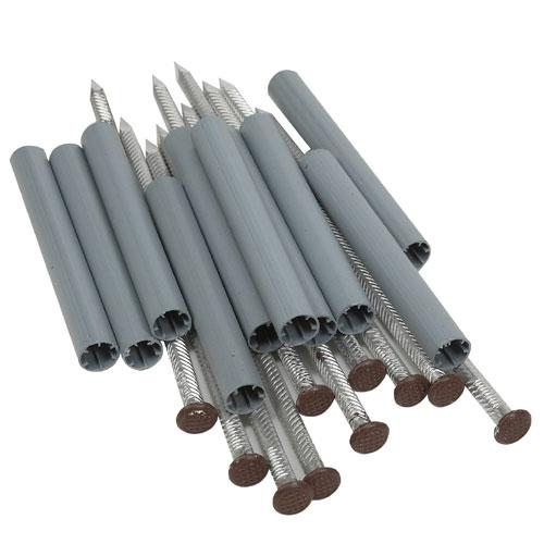 Ensemble de clous et douilles en aluminium, brun