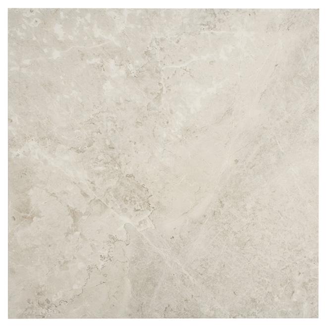 """Tuiles de porcelaine Firenze Bianco, 24"""" x 24"""", blanc"""