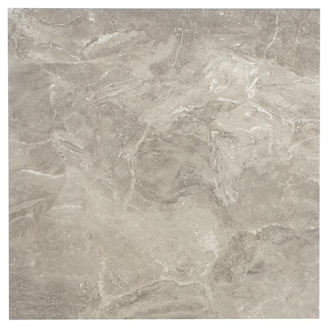 """Tuiles de porcelaine Firenze Grigio, 24"""" x 24"""", gris foncé"""