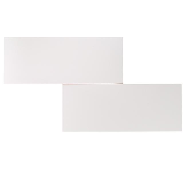 """Céramique murale, 8"""" x 20"""", 12/boite, blanc"""