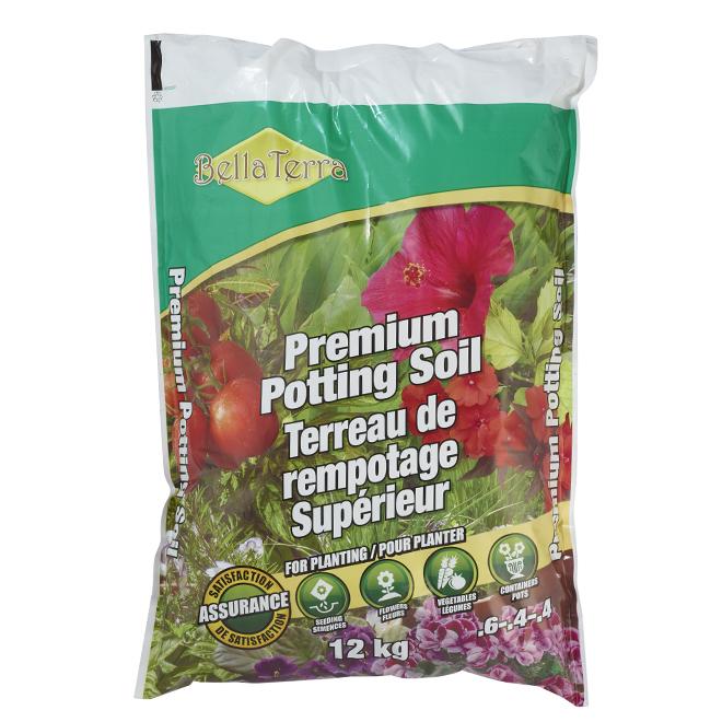 Premium Potting Soil - 6-4-4 - 12 kg Bag