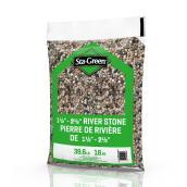 Pierre de rivière Sta-Green 1,5 po x 2,5 po, 39,6 lb