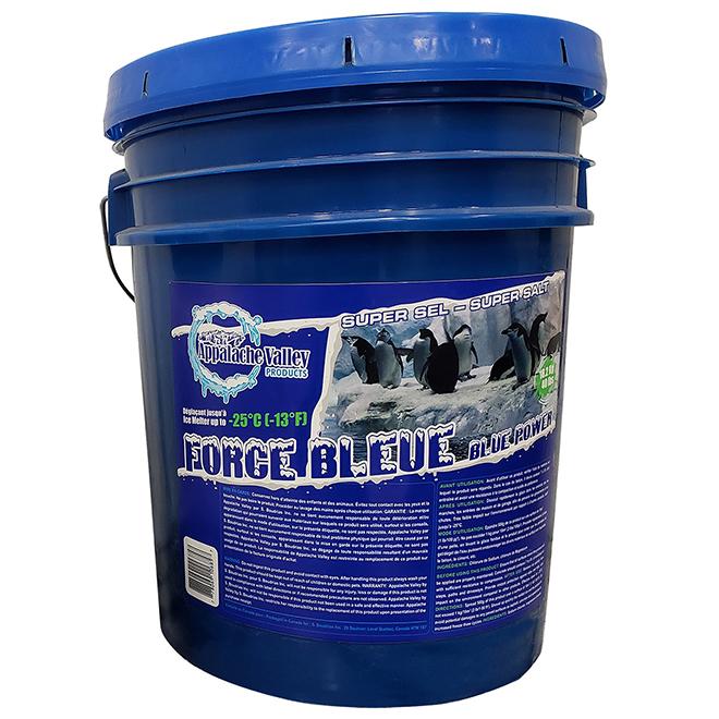 Super sel déglaçant Force bleue, seau de 18 kg