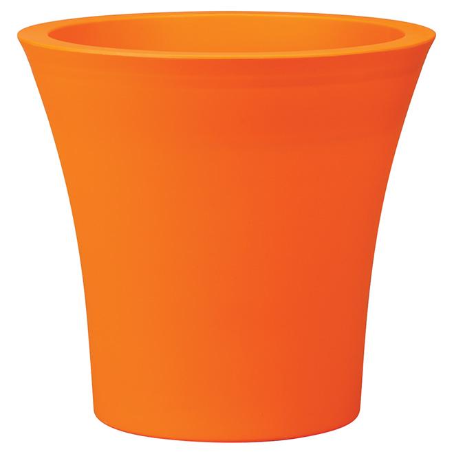 Pot en plastique « Urban », 15,8 po, orange