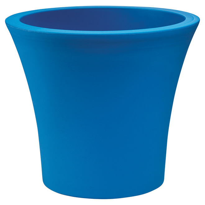 "Planter Pot with Wheels - 15"" - Blue"