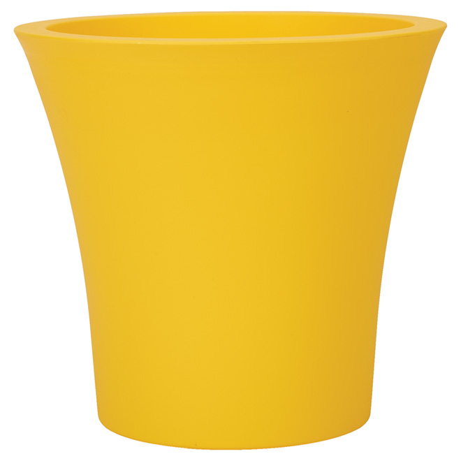 """Planter Pot with Wheels - 15"""" - Yellow"""