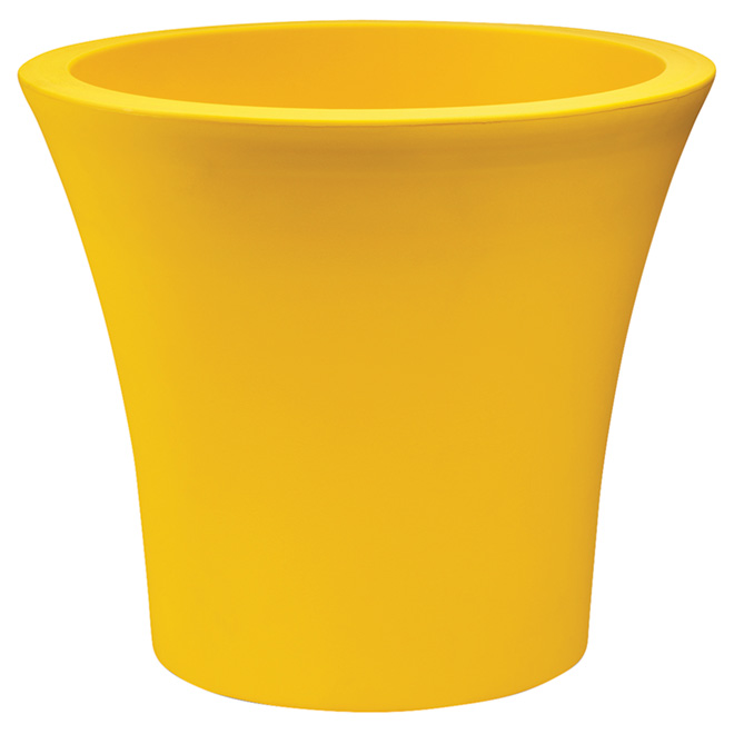 """Jardinière à roulettes, 15"""", jaune"""