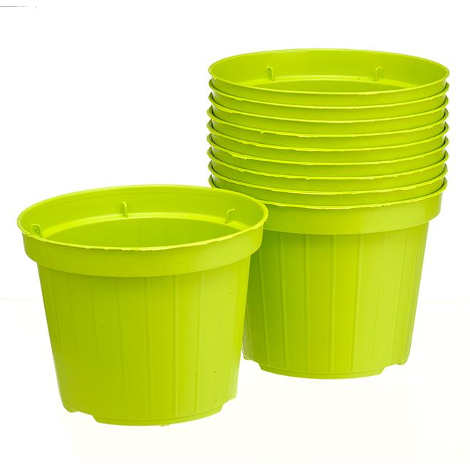 "Jardinières Norma en plastique, 4"", cèdre, 10/pqt"