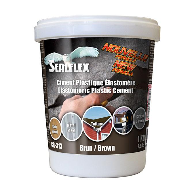 Ciment plastique élastomère SEALFLEX, brun, 1 kg