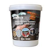 SEALFLEX Elastomeric Plastic Cement - Brown, 1 kg