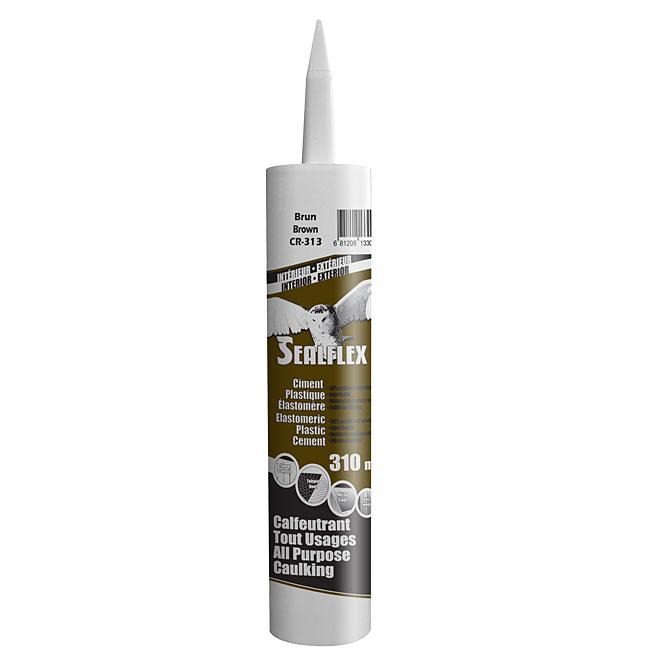 Ciment plastique élastomère SEALFLEX, brun, 300 ml