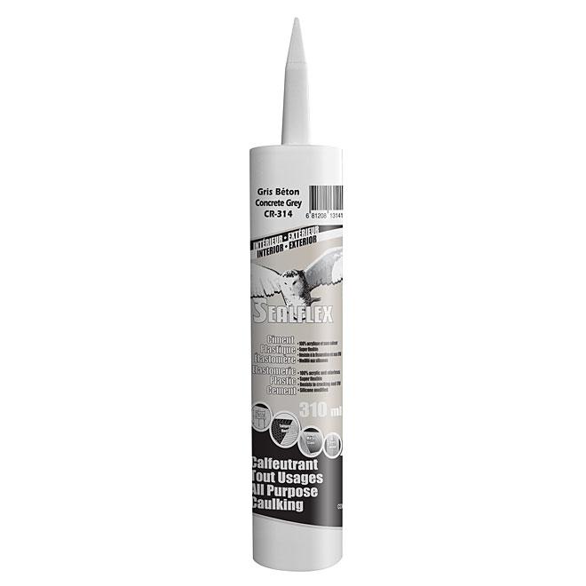 Ciment plastique élastomère SEALFLEX, gris, 300 ml
