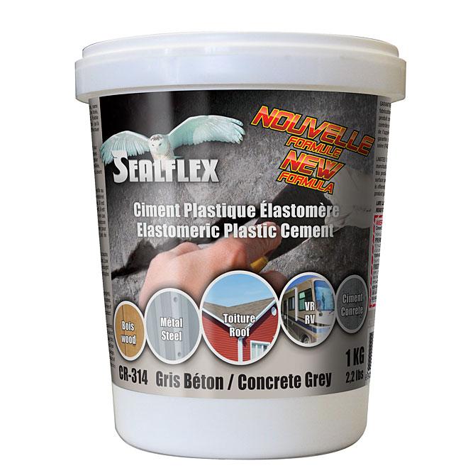 Ciment plastique élastomère SEALFLEX, gris, 1 kg
