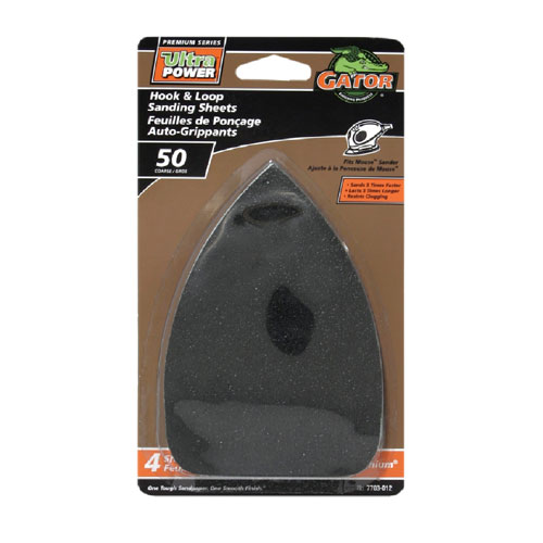 Papier abrasif détail Mouse, 120 grain, noir, paquet de 4