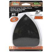Papier abrasif détail, 80 grain, oxyde zirconium, noir, pqt-12