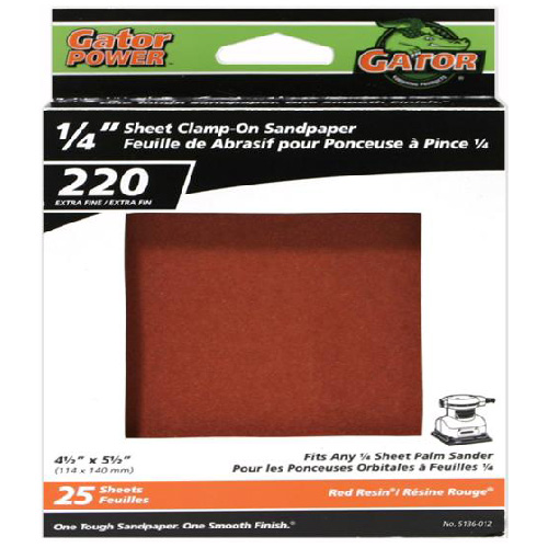 Gator Sandpaper for Clamp-On Sanders - 220 Grain, 25-Pack