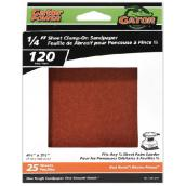 Gator Sandpaper for Clamp-on Sanders - 120 Grain - 25-Pack