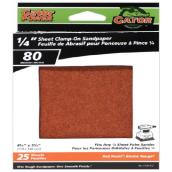 Sandpaper Clamp-On Sanders - 1/4 Sheet - 80 Grain - 25-Pack