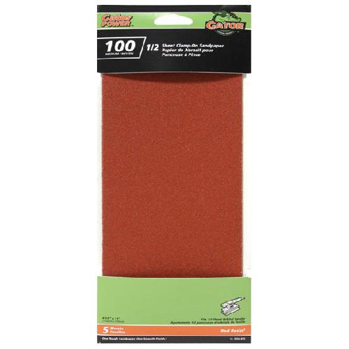 Sanding paper - Grit 100 - Pack of 6
