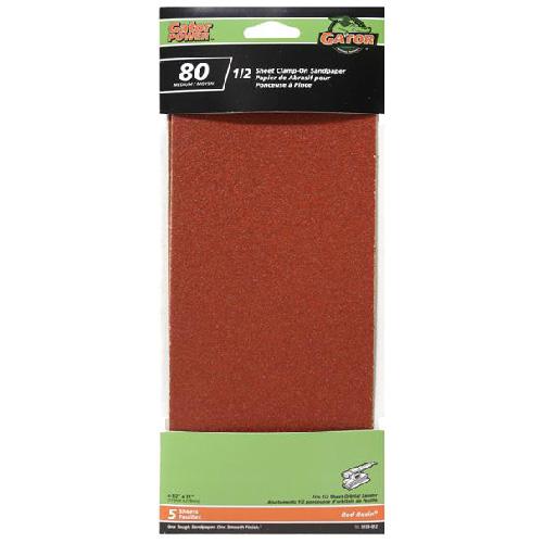 Papier abrasif, grain 80, Paquet de 6