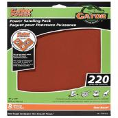 Gator Sandpaper - 9 x 11-in - 220 Grit - 8-Pack