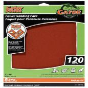 Gator Sandpaper - 9 x 11-in - 120 Grit - 8-Pack