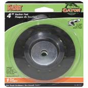 "Backer pad - 4"" - Plasttic - Black"