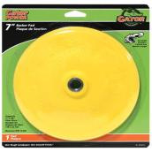 "Backer pad - 7"" - Plastic - Yellow"