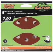 Gator Sanding Disk - 8-Hole - 120 Grit - 5-in - 5-Pack