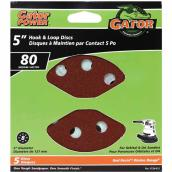 Gator Sanding Disk - 8-Hole - 80 Grit - 5-in - 5-Pack