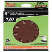 Gator Sanding Disk - 120 Grain - 8-Hole - 5-in - 15-Pack