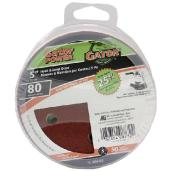 "Sanding disk, 5"", Grit 80, Pack of 50"
