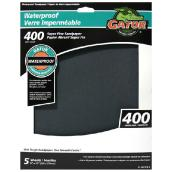 Waterproof Sandpaper - 400 Grit - Black - 5-Pk
