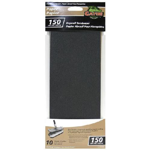 """Papier abrasif pour placoplâtre, 4.25""""x11.25"""", grain 150"""