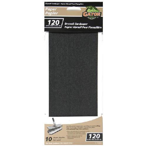 """Papier abrasif pour placoplâtre, 4.25x11.25"""", grain 120"""