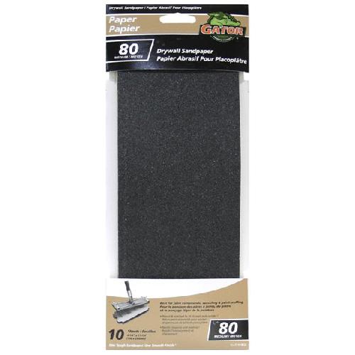 "Papier abrasif, 4.25""x11.25"", grain 80"