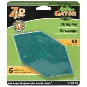 Coarse Sanding Sandpaper - 80 Grit - Green - 6-Pack