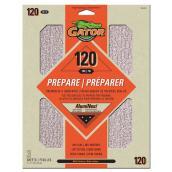 Papier abrasif supérieur, grain 120, 9 x 11 po, orange, pqt