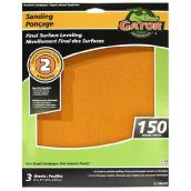 Premium Sandpiper - 9 x 11-in - 150 Grit - Orange - 3-Pack
