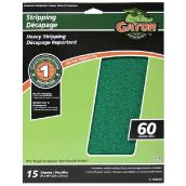 Premium Sandpaper - Heavy Stripping - 60 Grit - 15-Pack